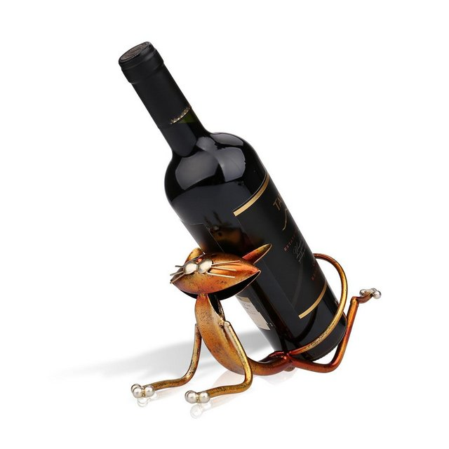 supporto per bottiglie di vino decorazione per la casa Yoga Cat