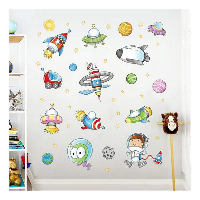 youjiu Rooms Stars Universe Space Planets Earth Sun Saturn Mars Poster Mural School Decor