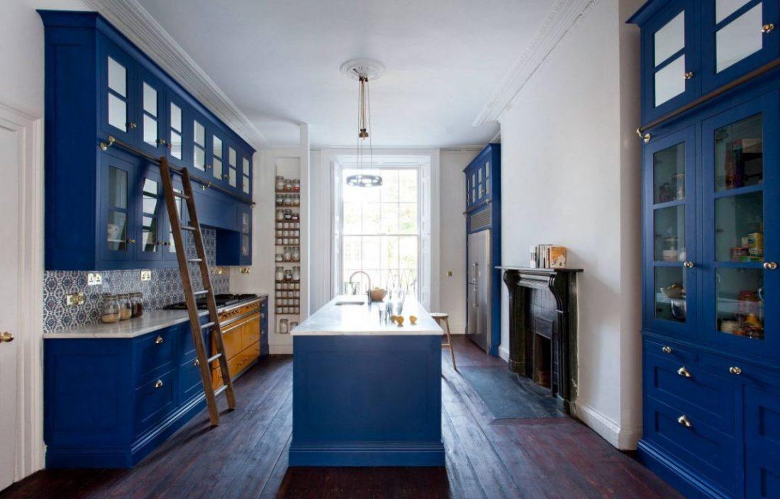 arredamento cucina blu
